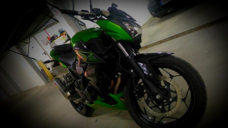 Esta es mi moto una Z300 saludos!