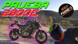 PRUEBA y opinion | KAWASAKI Z900e | Carne A2 | Motovlog con Rider Finneo