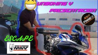 UNBOXING escape MIVV SUONO y primer rugido | HONDA CBR 600RR | Rider Finneo
